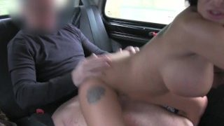 Love Creampie Busty brit dancer takes internal spunk load on taxi back seat