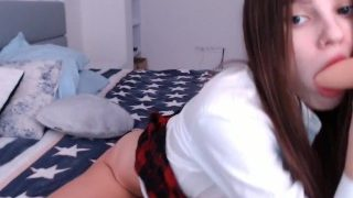 School girl anal AniButler Private show webcam