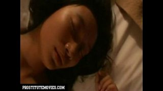 Asian teen having a great orgasm after the test