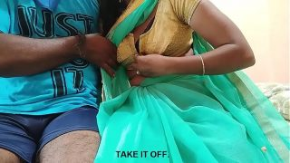 indian teen wife cheating with neighbor when husband go away English subtitles
