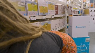 Blowjob in The Hardwood Aisle (Very Risky Blowjob) – EllaKai