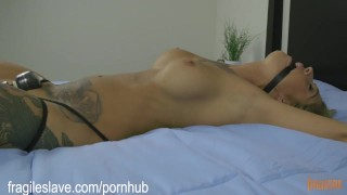 Tattooed Mega Babe is Made to Cum